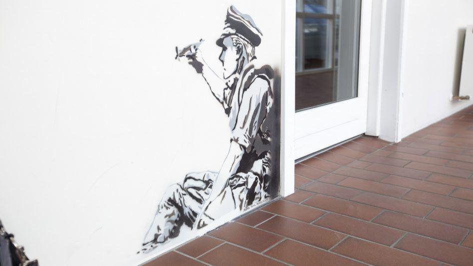 Vægmaleri på efterskole